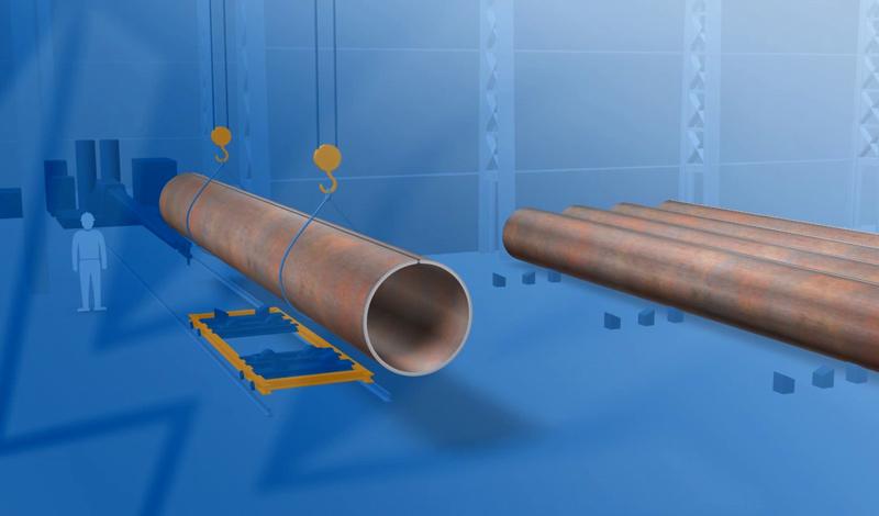 Standbild 3D-Animation Rohre