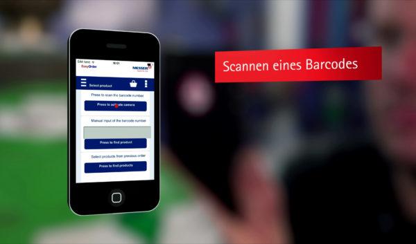 Produktfilm Messer e-order App