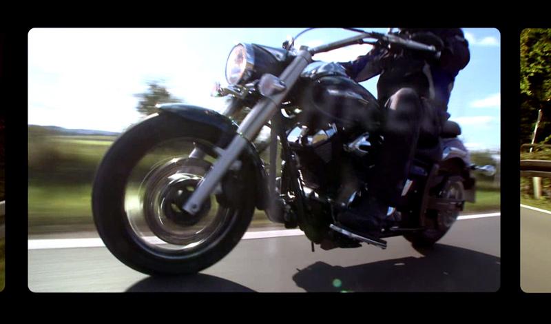 Standbild Schulungsfilm Motorrad fahren gut und sicher
