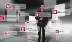 Standbild Produktfilm JJK Verlagssoftware