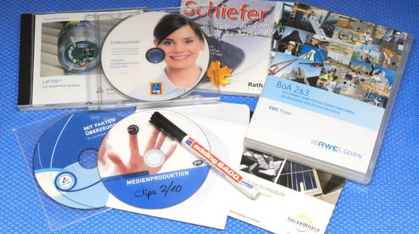 Medienduplikation CDs, DVDs, Verpackungen